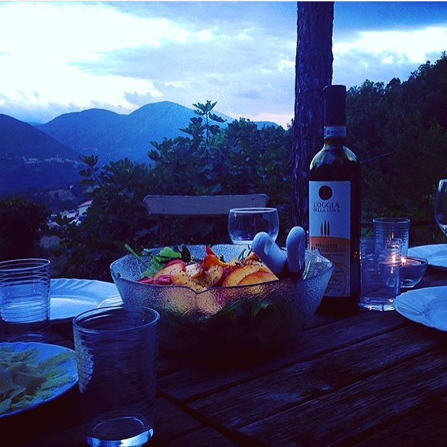 Repost isabelbongard  tb to lovely evenings in italy! redbughomehellip