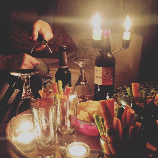 have a relaxing evening! candlelight winteriscoming balanced wine redbughome thehappynowhellip