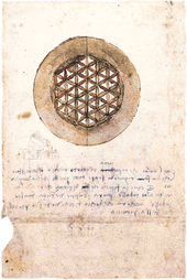 Leonardo da Vincis Darstellung des Ornaments (Codex Atlanticus, fol. 309v)